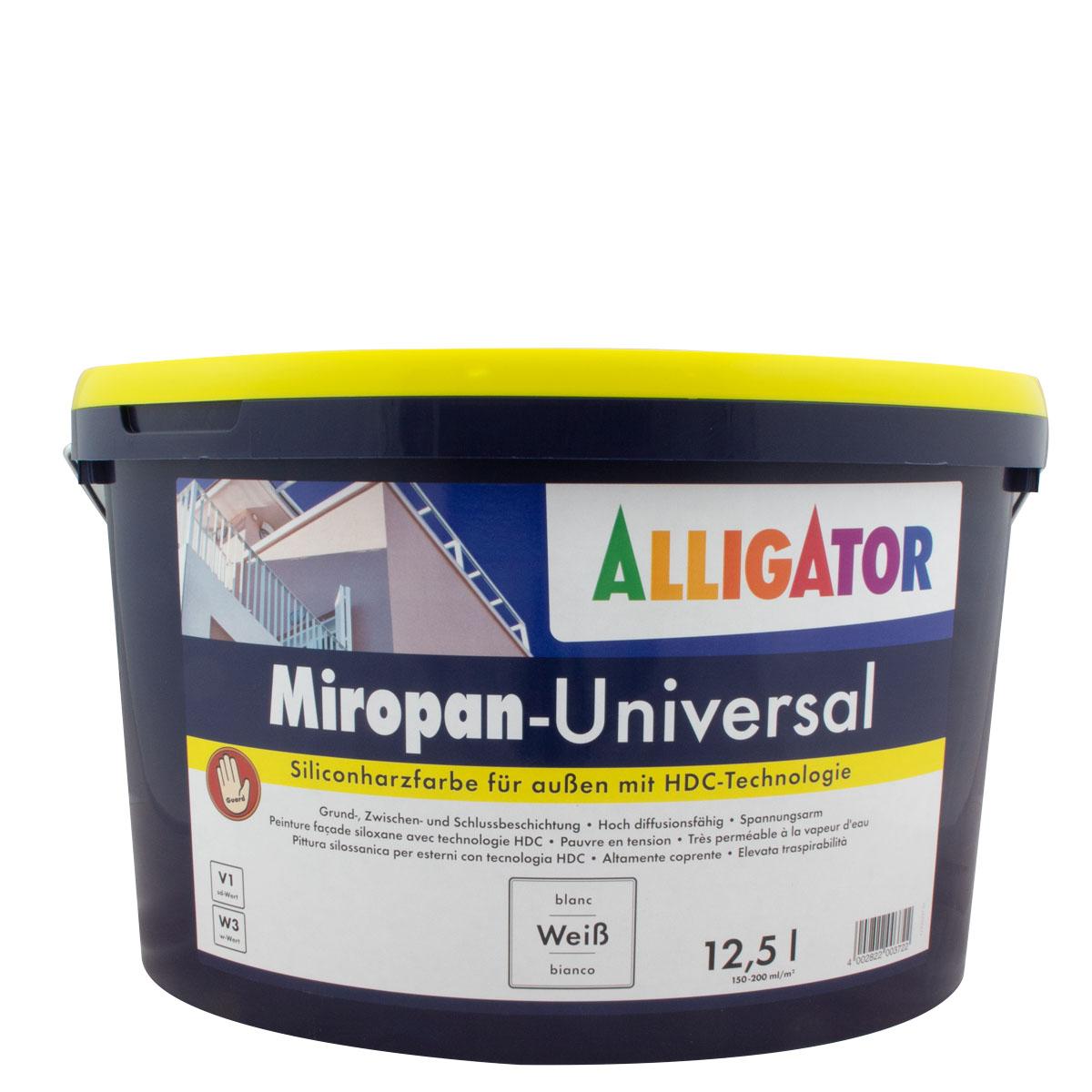 Alligator Miropan-Universal 12,5L weiss, Siliconharz-Fassadenfarbe