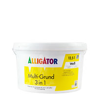Alligator 3in1 Multi-Grund 12,5l, weiss