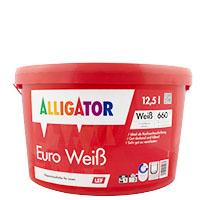 Alligator Euro Weiß LEF 12,5L weiss, Dispersions-Innenfarbe