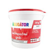 Alligator Leichtspachtel grob LEF 20kg Weiß Hobbock Q2-Q4