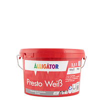 Alligator Presto Weiß LEF 2,5L weiss ,Dispersions-Innenfarbe, hochdeckend