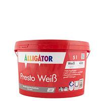 Alligator Presto Weiß LEF 5L weiss ,Dispersions-Innenfarbe, hochdeckend