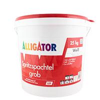 Alligator Spritzspachtel grob LEF Hobbock 25kg, weiß