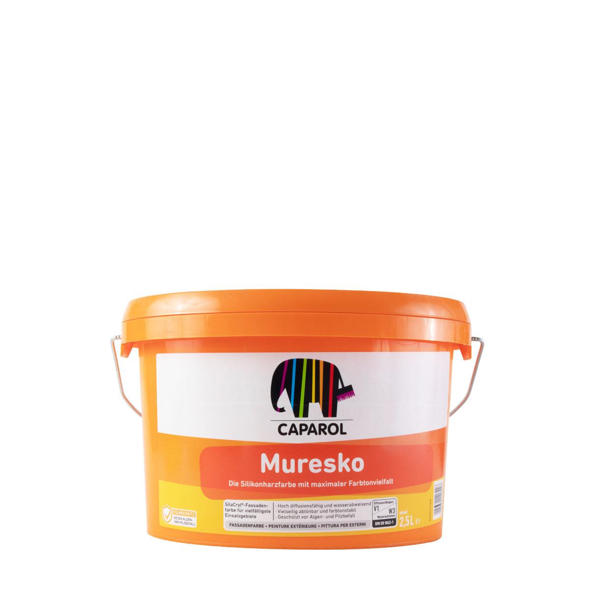 Caparol Muresko SilaCryl 2,5L MIX ,Siliconharz-Fassadenfarbe