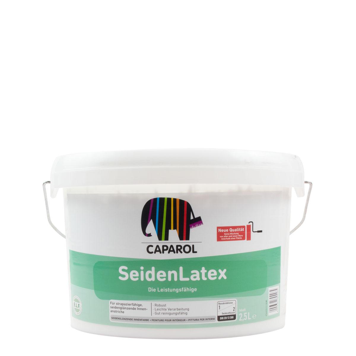 Caparol SeidenLatex 2,5L ,weiss, strapazierfähige Innenfarbe