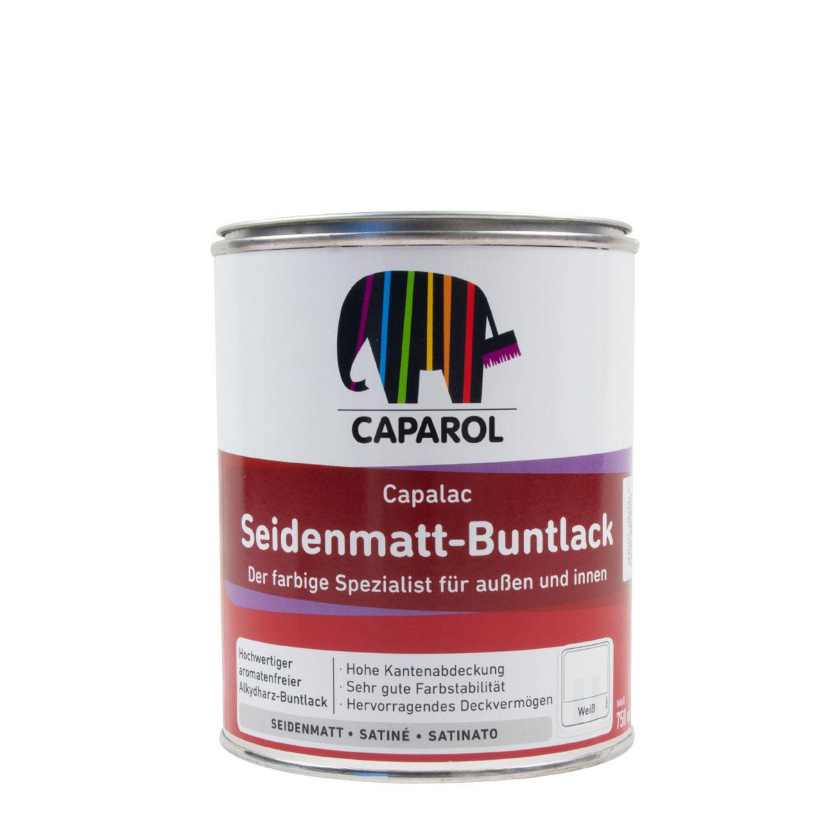 Caparol Capalac Seidenmatt-Buntlack 0,75L weiss, Alkydharz-Buntlack