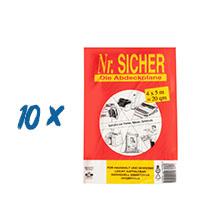 10x Abdeckfolie, Abdeckplane PE10my ,NR Sicher, 4x5m (20qm), Die Abdeckplane