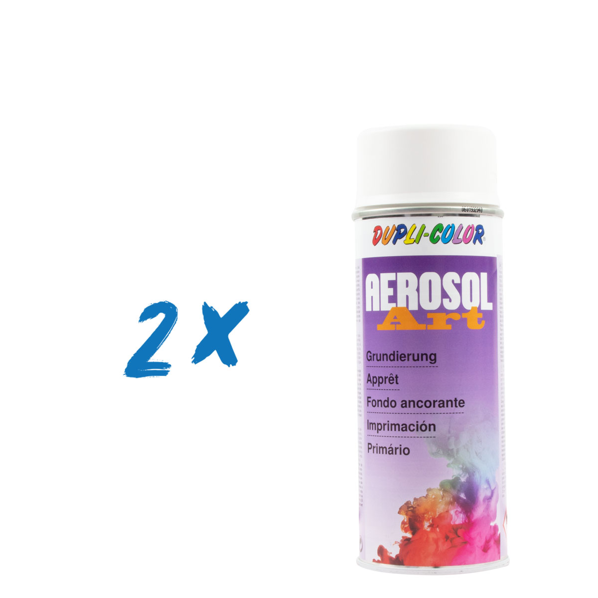 2x Dupli-Color Aerosol-Art Grundierung weiss, 400ml, Spraydose