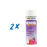 2x Dupli-Color Aerosol-Art Grundierung weiss, 400ml, Spraydose