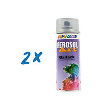2x Dupli-Color Aerosol Art Klarlack 400ml glänzend