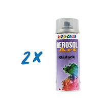 2x Dupli-Color Aerosol Art Klarlack 400ml matt