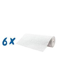 6 x Erfurt Rauhfaser 20 Pro fein Rolle weiß 33,5 x 0,53 Meter