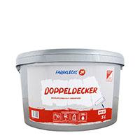 Farbklecks24 Doppeldecker 5L, premium Einschicht-Innenfarbe weiß