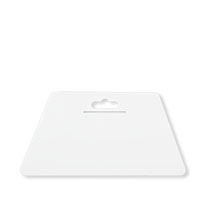 Farbklecks24 Tapezierspachtel Weiß 230x120mm, Tapeten-Andrückspachtel
