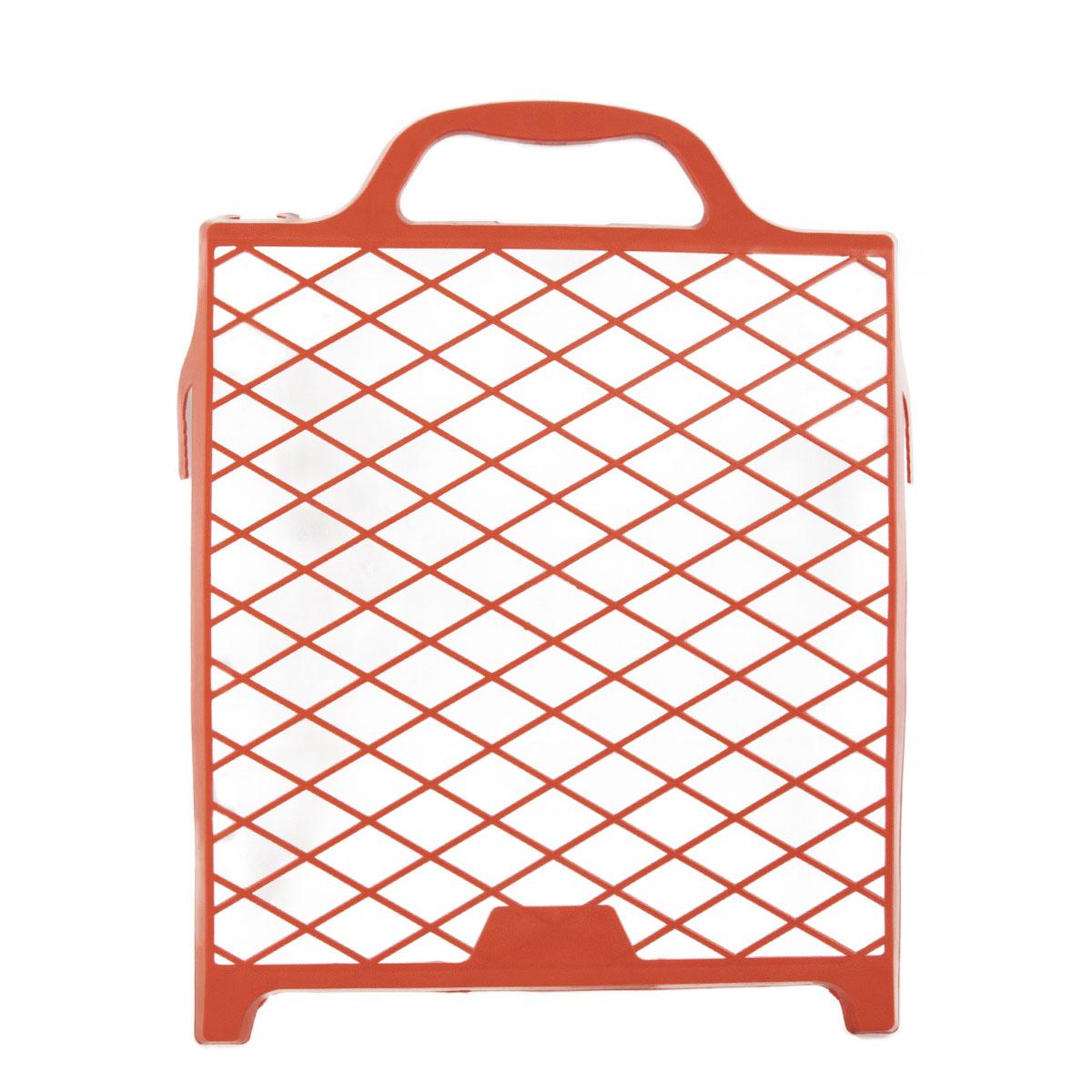 Farbklecks24 Abstreifgitter Kunststoff 27 x 29cm, rot