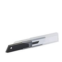 10x Farbklecks24 Cuttermesser Ersatzklingen Black 18mm