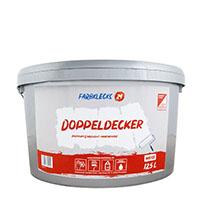 Farbklecks24 Doppeldecker 12,5L, premium Einschicht-Innenfarbe weiß