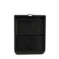 Farbklecks24 Farbwanne Kunststoff, schwarz, Lackwanne, 26 x 32cm
