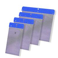 Farbklecks24 Japanspachtel Satz Federbandstahl 4-teilig blau