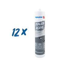 12x Farbklecks24 Maleracryl 310ml, Dichtstoff, Anschlussacryl