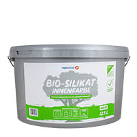 Farbklecks24 Bio Silikat Innenfarbe 12,5L weiss, Allergiker geeignet