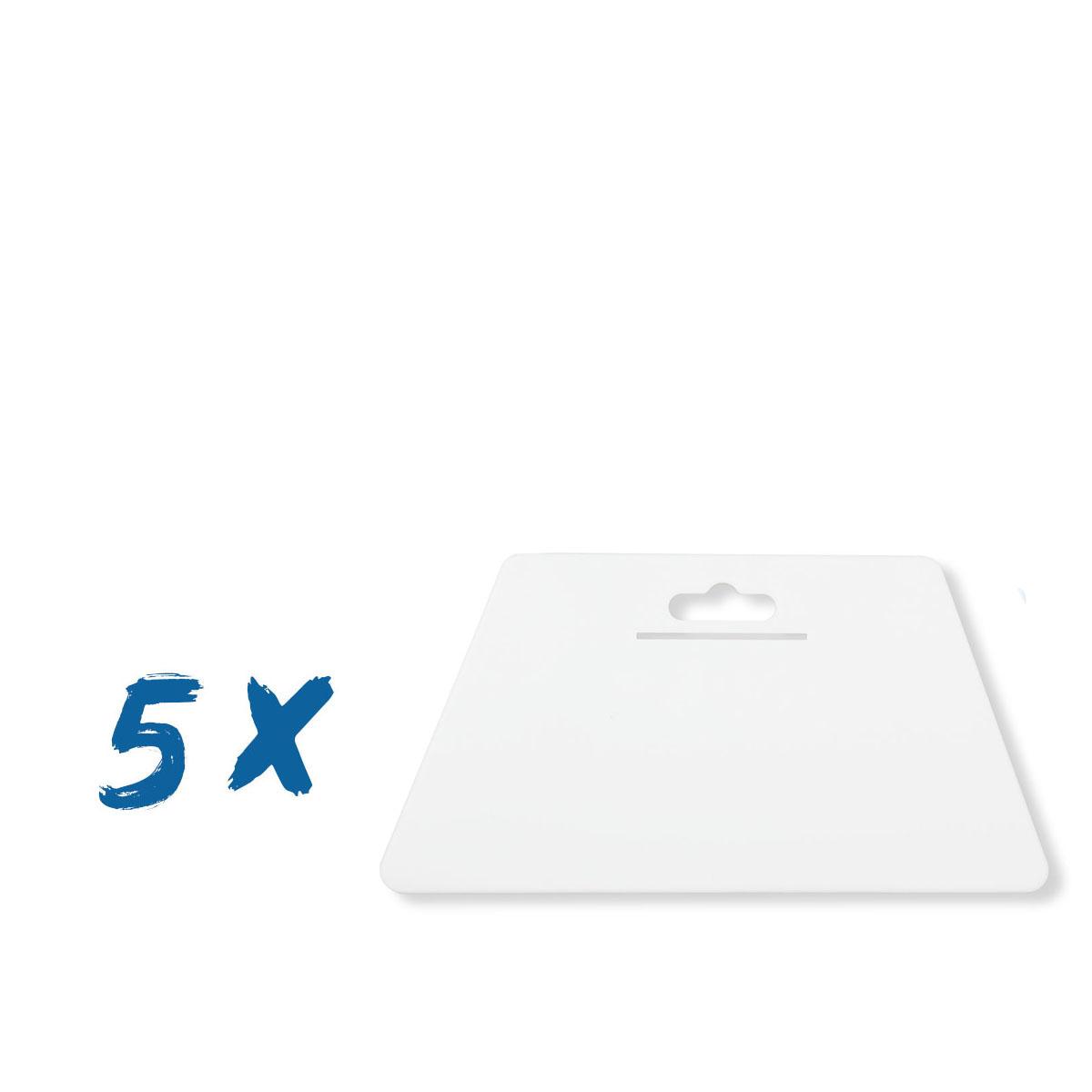 5 x Tapezierspachtel Weiß 230x120 mm, Tapeten-Andrückspachtel