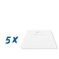5x Farbklecks24 Tapezierspachtel Weiß 230x120 mm, Tapeten-Andrückspachtel