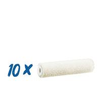 10x Farbklecks24 Velours Walze 10cm, 4mm Flor, Lackierwalze
