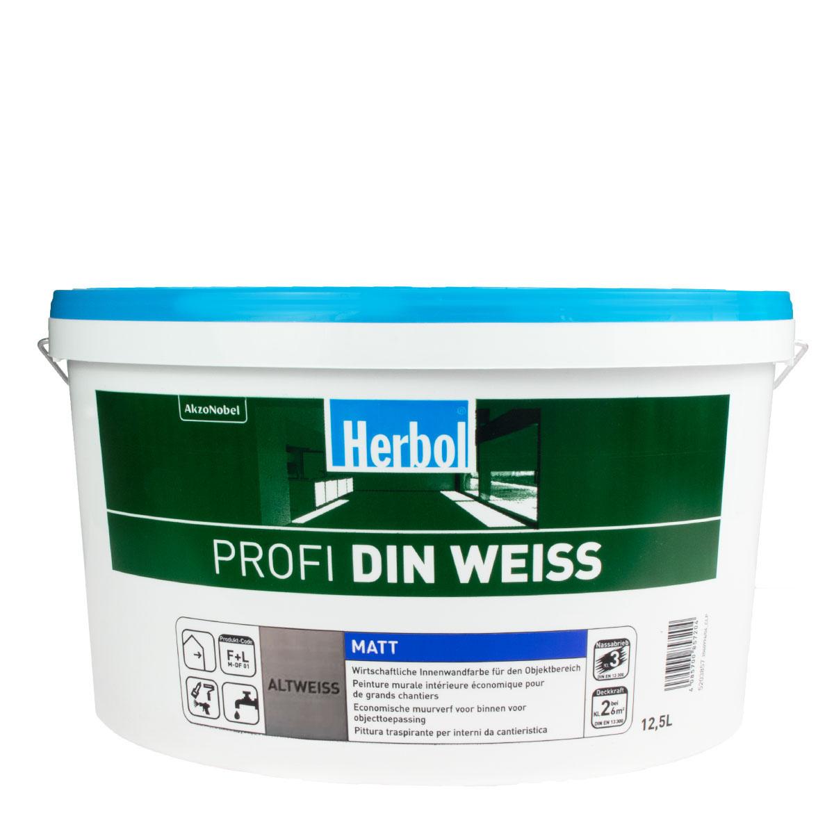 Herbol Profi DIN 12,5L Altweiss, Innenfarbe