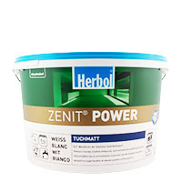 Herbol Zenit Power Tuchmatt 12,5L, weiß, Hochdeckende Innenfarbe