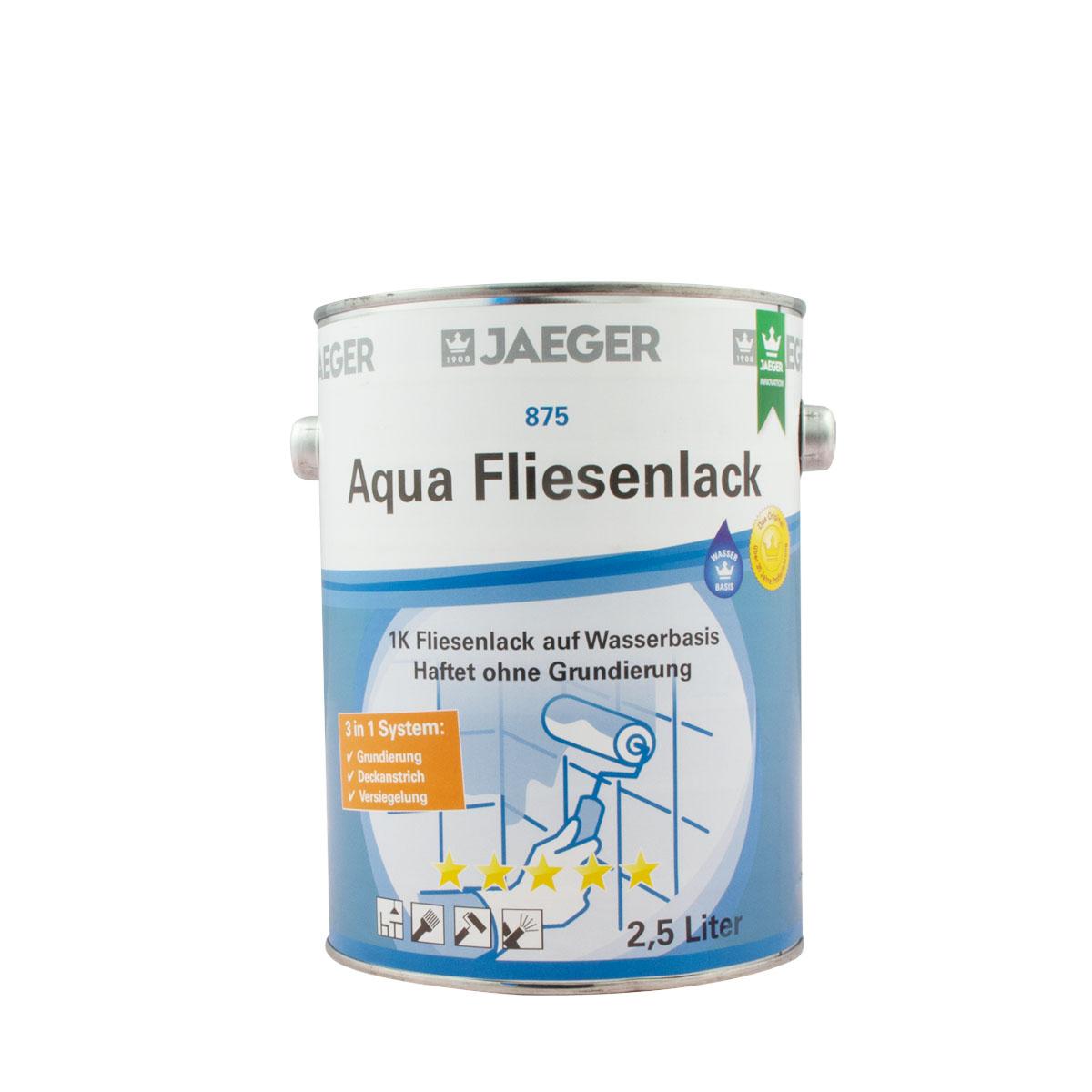 Jaeger Aqua Fliesenlack 875 neve (weiss) 2,5l, 3 in 1 System