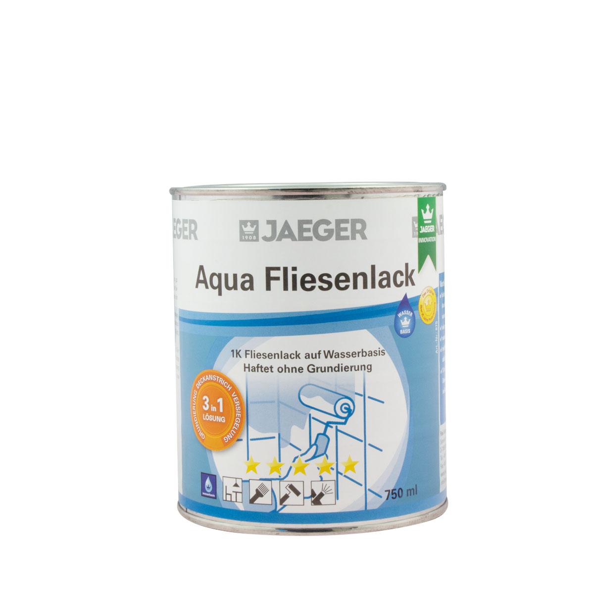 Jaeger Aqua Fliesenlack 875 neve (weiss) 750ml, 3 in 1 System
