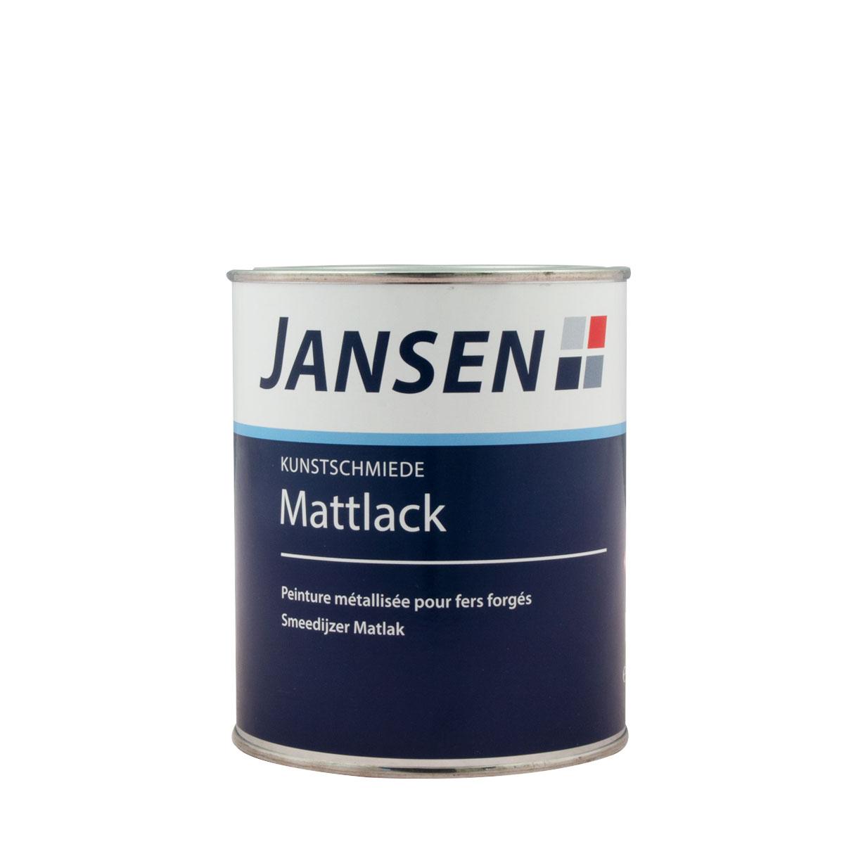 Jansen Kunstschmiede-Mattlack anthrazit 750ml mit Eisenglimmer