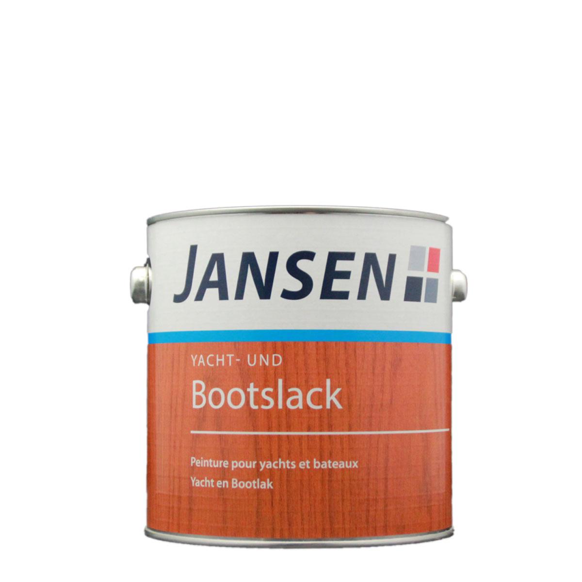 Jansen Yacht- und Bootslack 2,5L Hochglänzend, Wetterfest, Klarlack