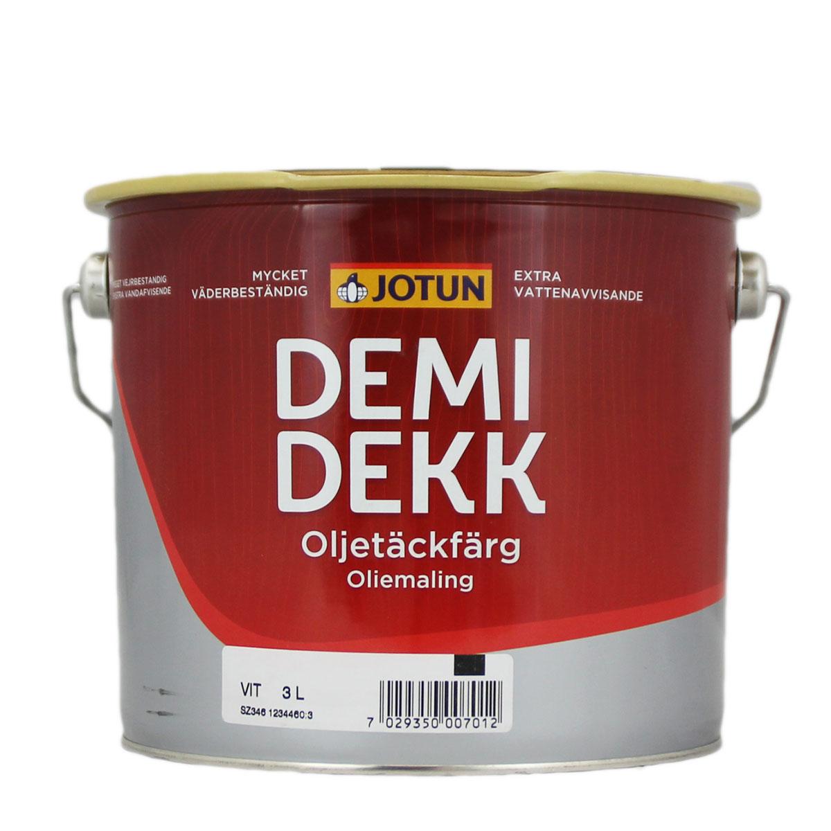 Jotun Demidekk Oljetäckfärg weiss 3L lösemittelhaltige Deckfarbe