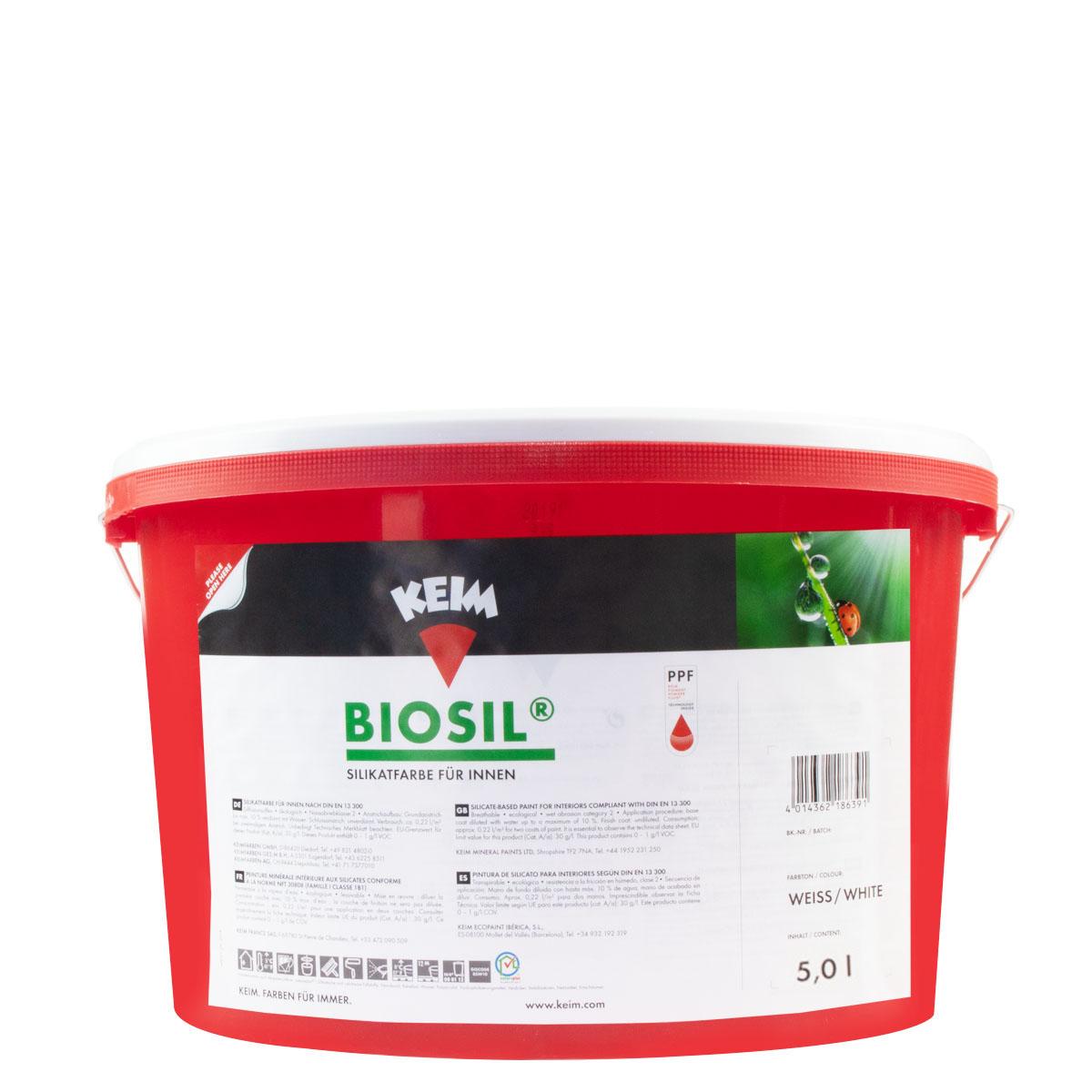 Keim Biosil 5L weiss, Innenfarbe Silikatfarbe, für Allergiker geeignet
