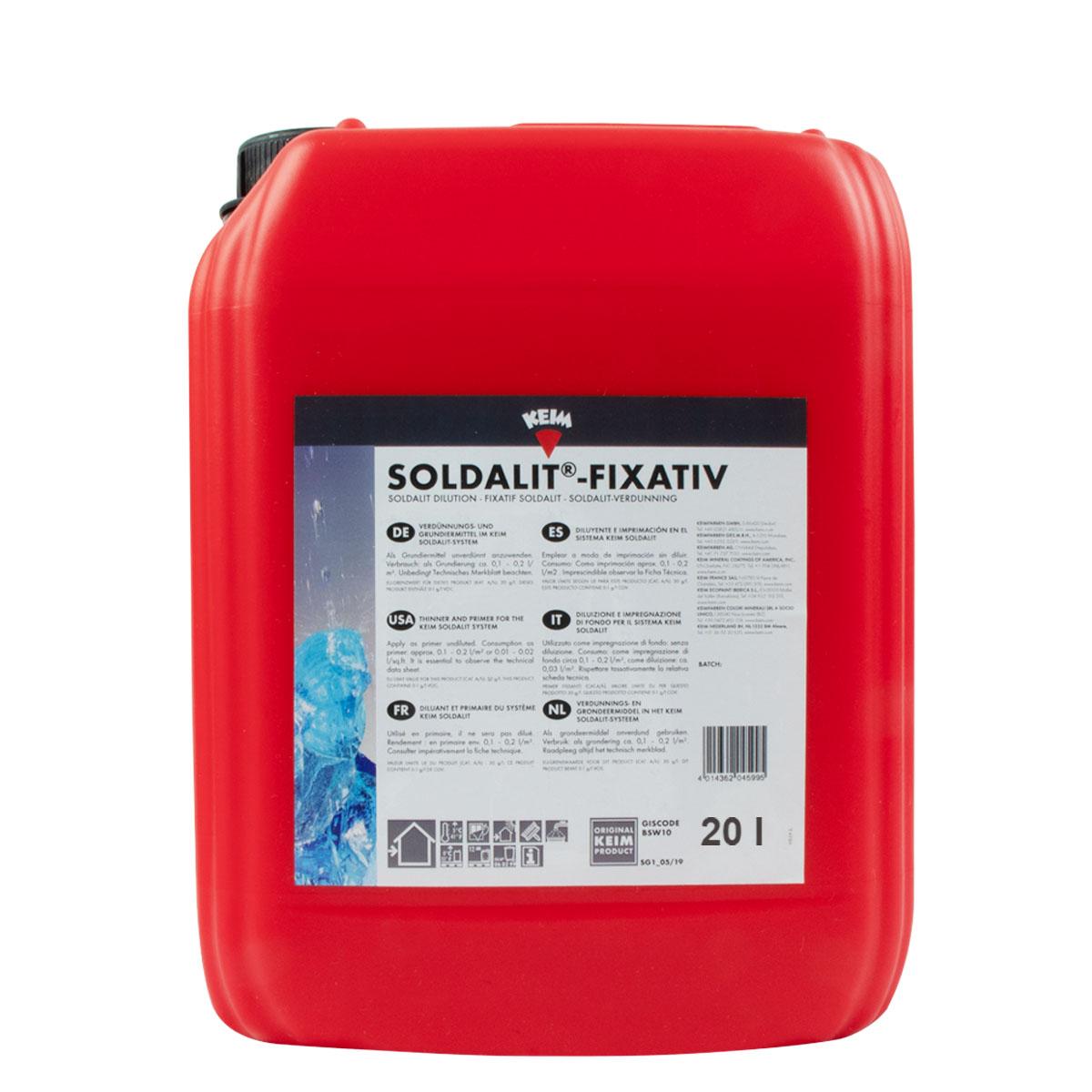 Keim Soldalit-Fixativ 20L ,Verdünnungs- u. Grundiermittel Sol-Silikatb.