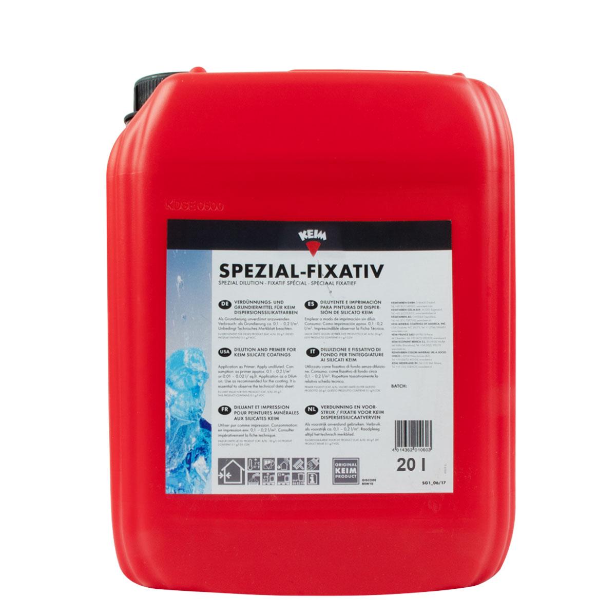 Keim Spezial-Fixativ 20L, Verdünnungsmittel auf Silikatbasis