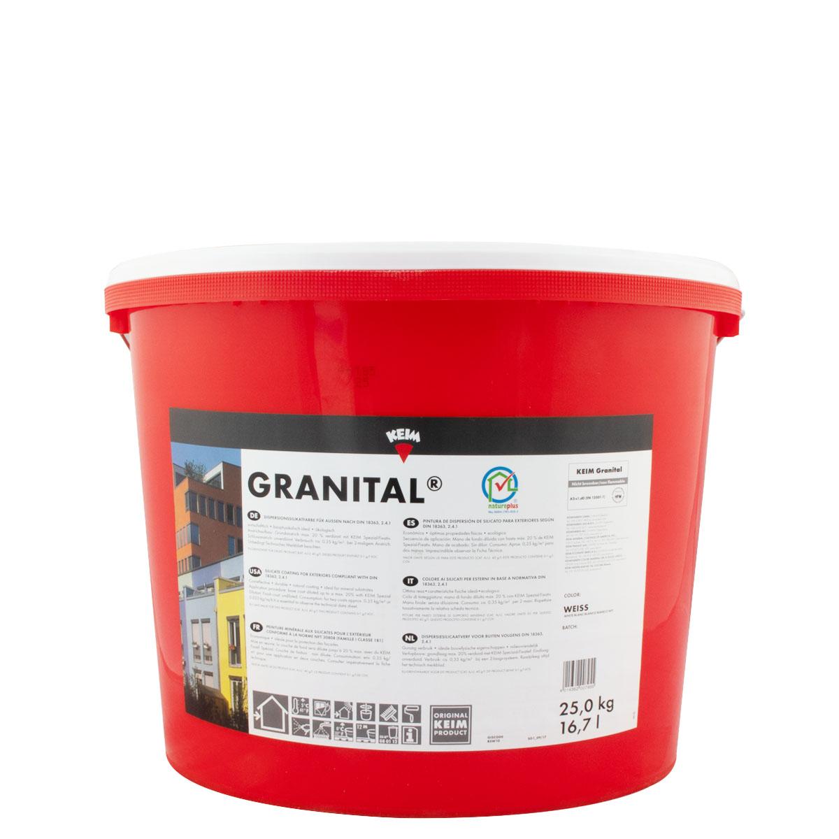 Keim Granital weiss 25kg, Dispersionssilikatfassadenfarbe