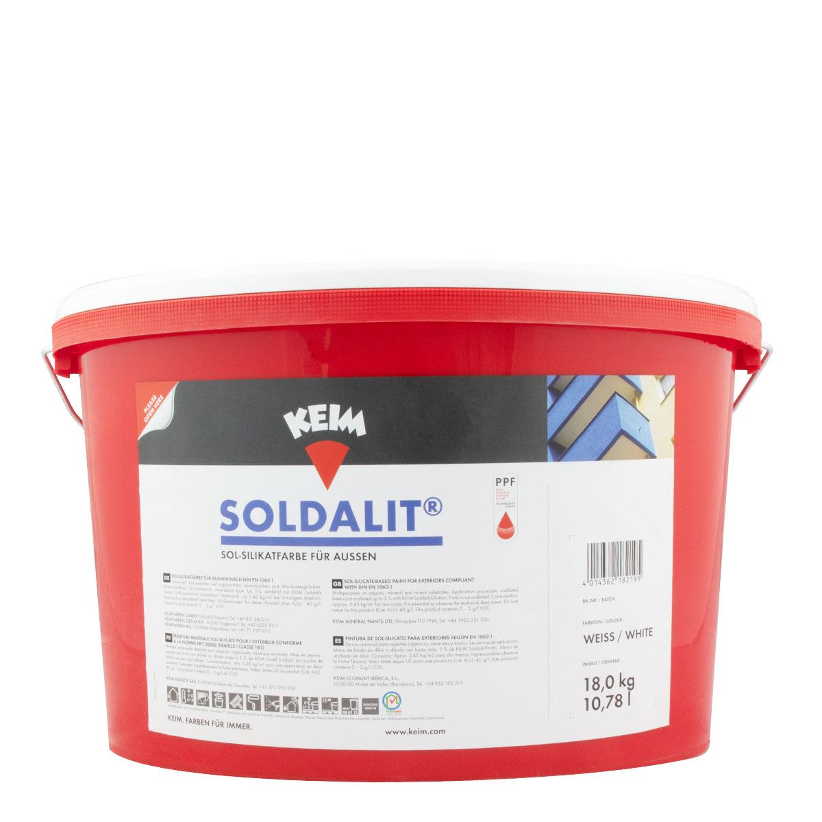 Keim Soldalit Fassadenfarbe 18kg weiss, silikatbasis