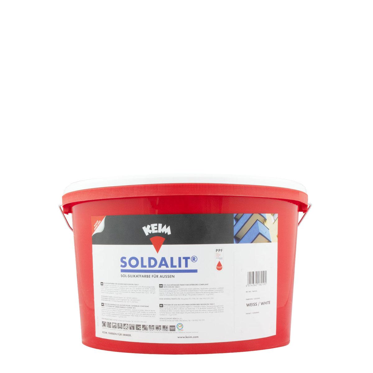 Keim Soldalit Fassadenfarbe 5kg weiss, silikatbasis