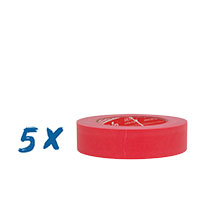 5x Kip 3301 Malerband Ultra Sharp 50mx30mm, rot