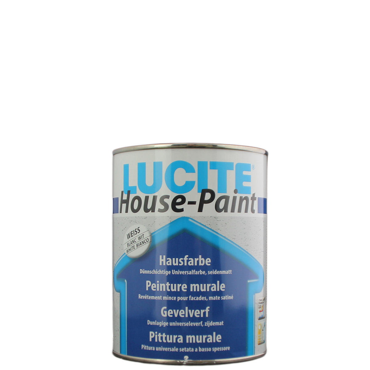 Lucite House Paint 1L weiss 1000T, Hausfarbe, Fassadenfarbe