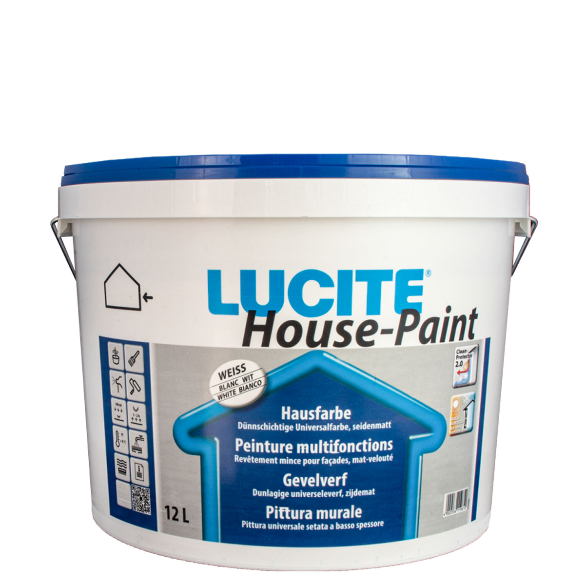 Lucite House Paint 12L MIX PG1 , Hausfarbe, Fassadenfarbe