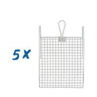 5 x Abstreifgitter Metall 26x30cm, Farbgitter