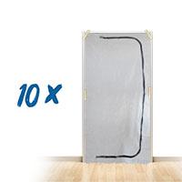 10x Staubschutztür 1,10x2,20m C-Form