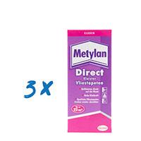 3x Metylan Direct Kleister Vliestapeten 200g MDD20