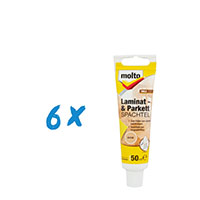 6x Molto Laminat & Parkett Spachtel Buche 50ml