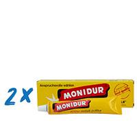 2 x Monidur 100g feine Schleif- u. Polierpaste, für Chrom und Metall