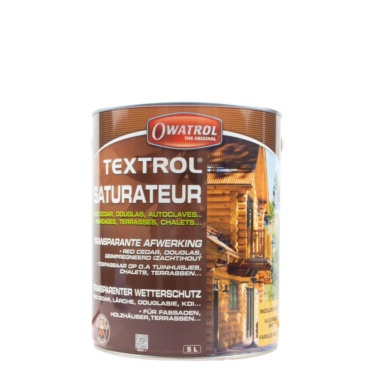 Owatrol Textrol farblos 5L, transparenter Wetterschutz